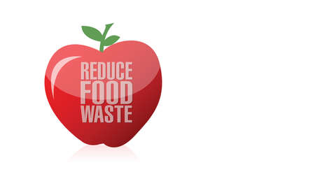 apple. reduce food waste illustration design over a white background