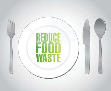 reduce food waste concept illustration design over a white background Vector