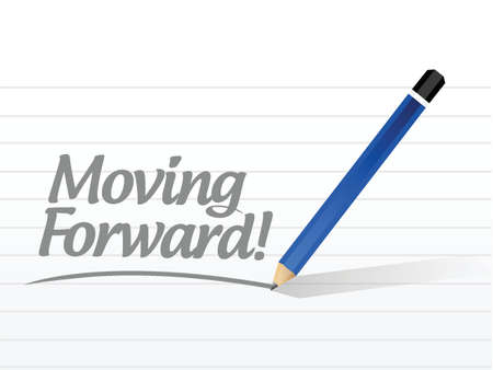 fast forward: moving forward message illustration design over a white background