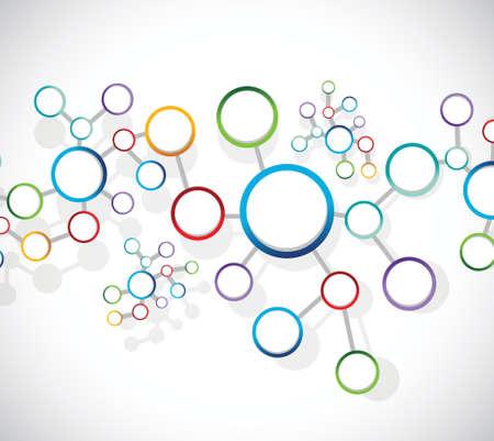 tier: atoms diagram link network connection illustration design over a white background Illustration