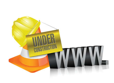 web under construction. www. illustration design over a white background Vector