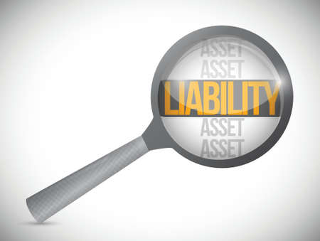 liabilities: liabilities under review illustration design over a white background Illustration