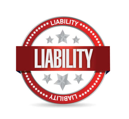 liability seal illustration design over a white background