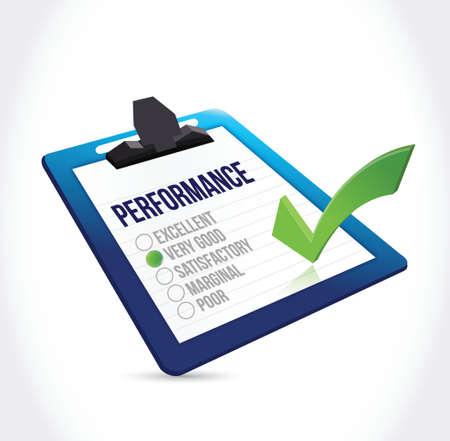tickbox: very good performance clipboard checklist illustration design over a white background Illustration