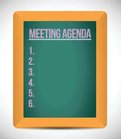 meeting agenda list illustration design over a white background Illustration
