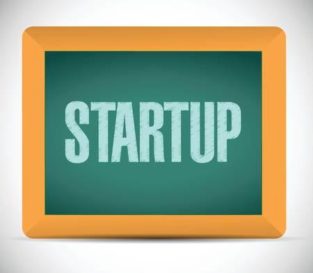 startup sign message illustration design over a white background