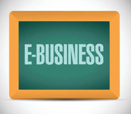 ebusiness: e-business message illustration design over a white background