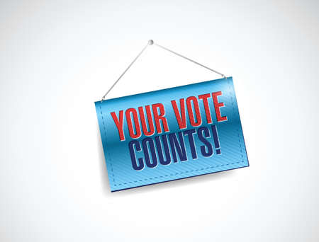 your vote counts banner illustration design over a white background Vector