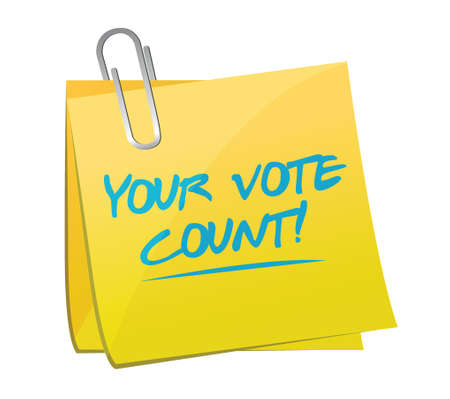 your vote counts memo illustration design over a white background Vector