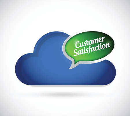 cloud computing customer support illustration design over a white background Vector