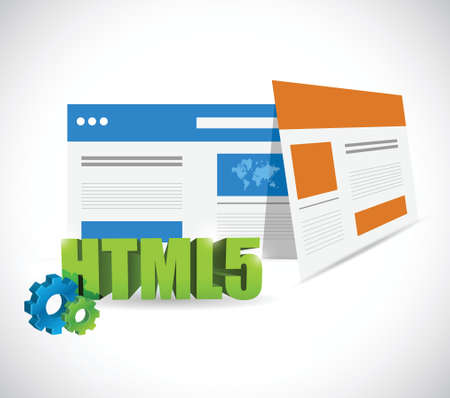 html5 web templates illustration design over a white background 向量圖像