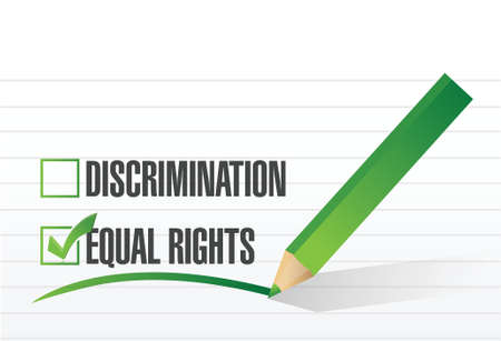 equal rights selection illustration design over a white background Vector