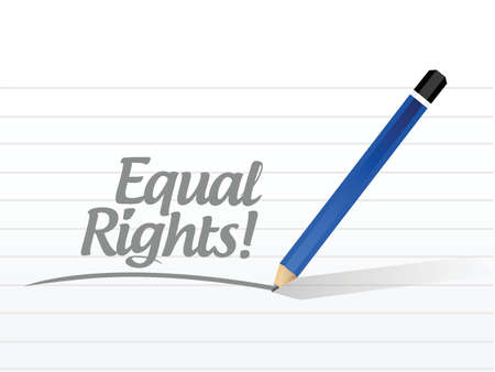 equal rights: equal rights sign message illustration design over a white background Illustration