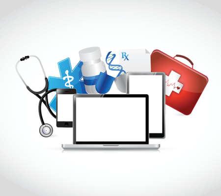 medical equipment: medical technology concepts illustration design over a white background