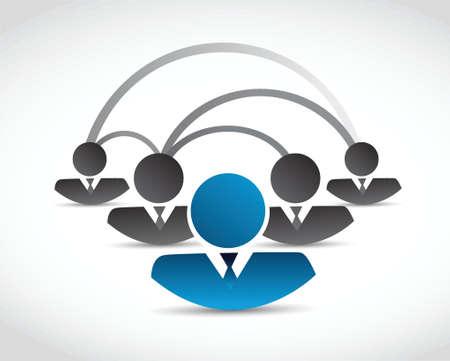 peer to peer: gente de la red de comunicación de diseño ilustración sobre un fondo blanco
