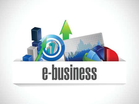 e business economy icons illustration design over a white background Illustration