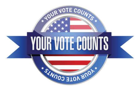 votre vote compte joint timbre illustration design sur un fond blanc