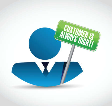 customer is always right icon and sign illustration design over a white background