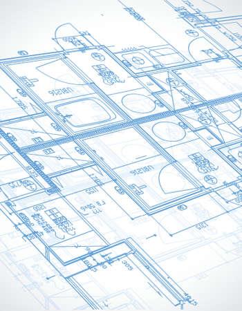 Blaupause, Illustration, Design über einem weißen Hintergrund