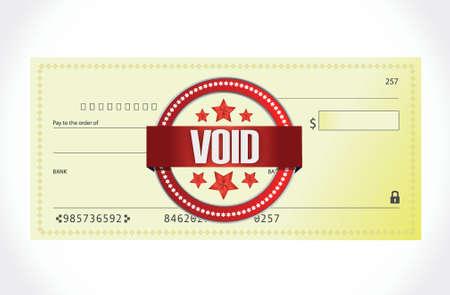 void: void bank check illustration design over a white background
