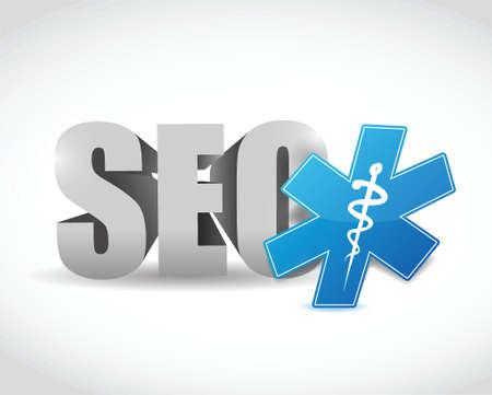 seo medical symbol illustration design over a white background