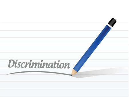discrimination message illustration design over a white background Illustration