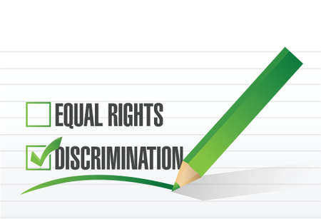 equal to: discrimination selection illustration design over a white background