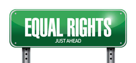 equal rights sign illustration design over a white background