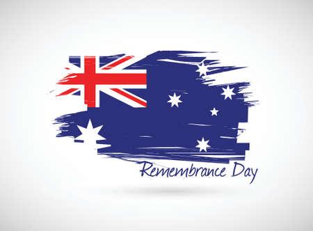 remembrance day: Australia Day ricordo design illustrazione su uno sfondo bianco Vettoriali