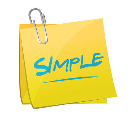 simple text memo illustration design over a white background Illustration