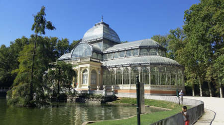 parque del buen retiro: Parque del Buen Retiro. Park of the Pleasant Retreat in Madrid, Spain