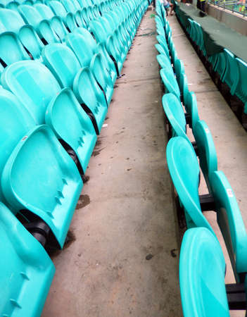 light green stadium chairs  photo
