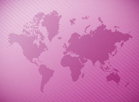 world map illustration design over a purple background Imagens
