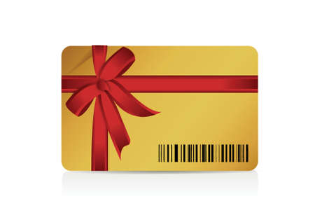 barcode gift card illustration design over a white background