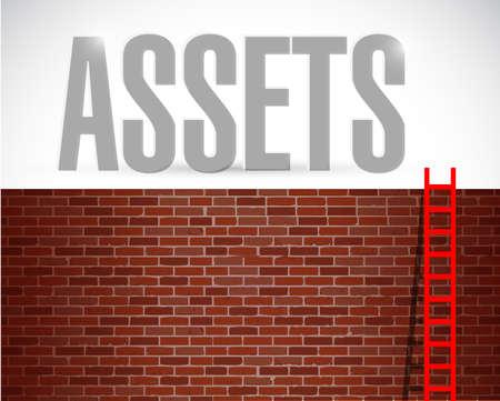 assets ladder illustration design over a white background Stock fotó