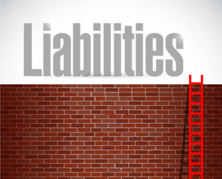 liabilities: liabilities ladder illustration design over a white background