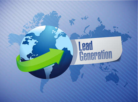 lead generation globe sign illustration design over a world map background Reklamní fotografie - 33423495