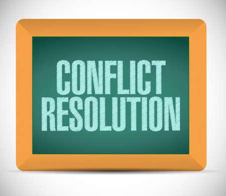 conflict resolution sign message illustration design over a white background illustration