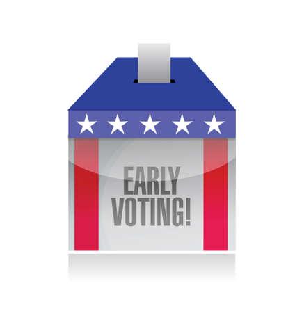 voting ballot: early voting ballot box illustration design over a white background Stock Photo