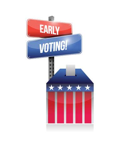 encuestando: votación ilustración votación inicial de diseño sobre un fondo blanco