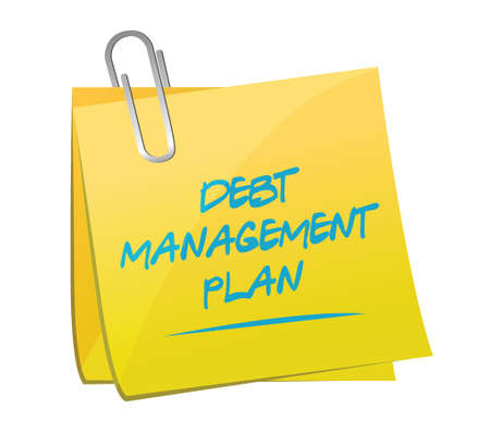 debt management: debt management plan memo post illustration design over a white background