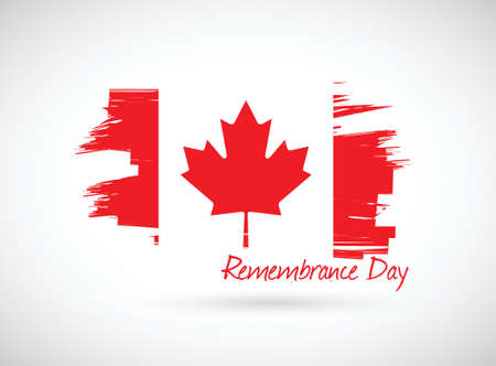 canada remembrance day illustration design over a white background Stock Photo