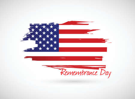 remembrance day: us remembrance day illustration design over a white background Stock Photo