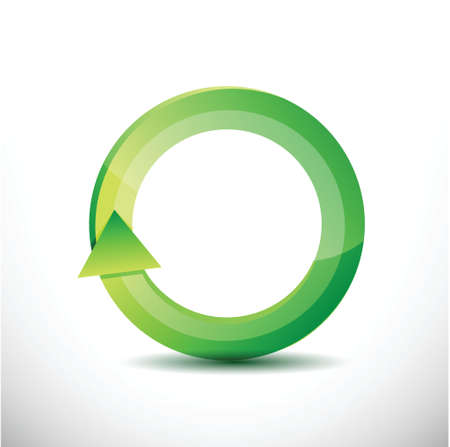kind of diagram: green rotating cycle illustration design over a white background Stock Photo