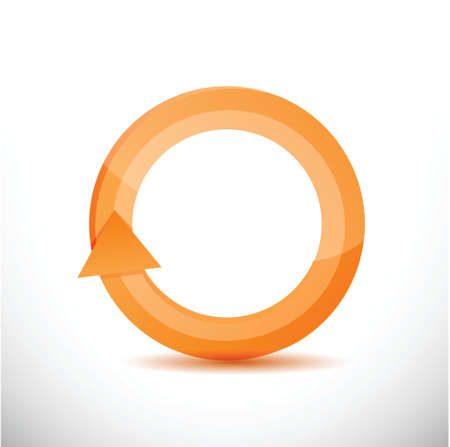 kind of diagram: orange rotating cycle illustration design over a white background