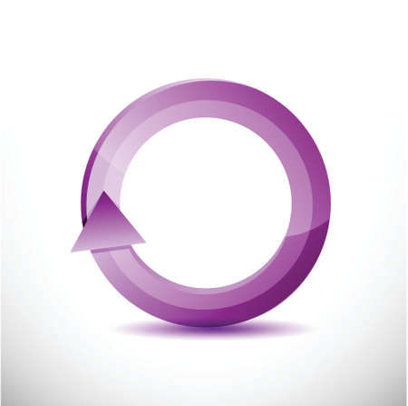kind of diagram: purple rotating cycle illustration design over a white background Stock Photo