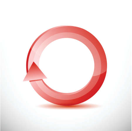 kind of diagram: red rotating cycle illustration design over a white background Stock Photo