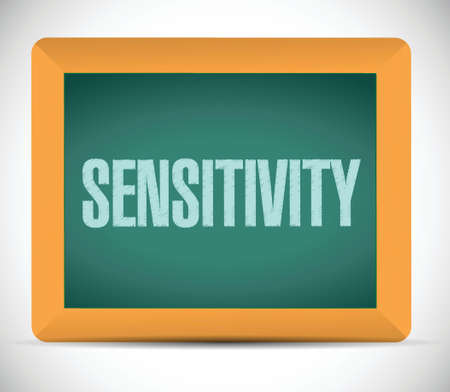 previews: sensitivity message sign illustration design over a white background
