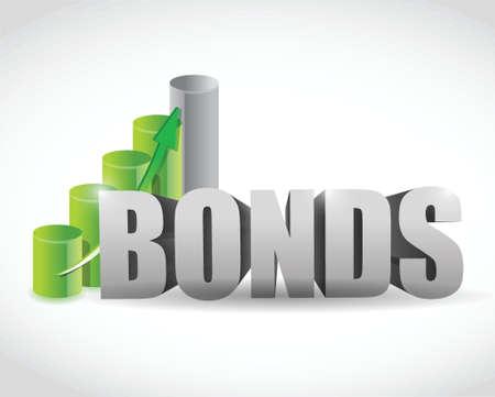 bonds sign business graph illustration design over a white background Banco de Imagens