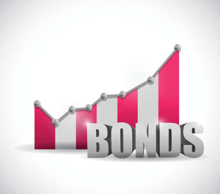 bonds: bonds business graph illustration design over a white background Stock Photo